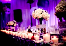 Purple Up Lighting Head Table