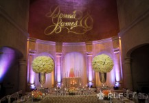Light Pink Uplighting & Custom Monogram