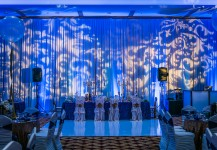 Blue Uplighting with Patterned Gobos