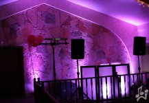 Pink Up Lighting Graduation Party