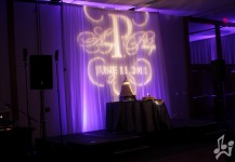 Purple Up Lighting and Monogram